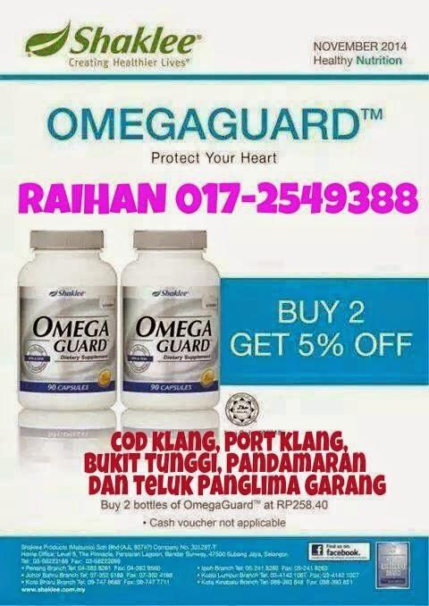 Omega Guard Shaklee untuk Promo November 2014