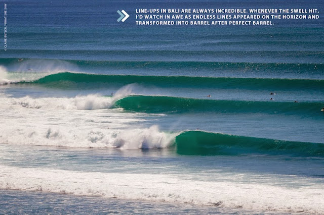 Perfect surfing line-up in Bali, Indonesia (Photo: Claire Butler / What She Saw)