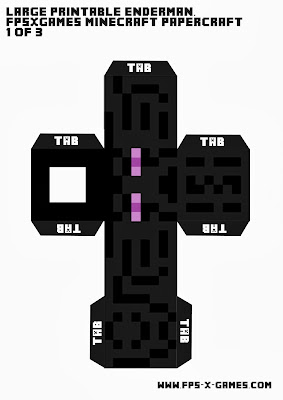 Large Minecraft Enderman Printable Cut Out Character