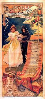 Cartel Fiestas de Primavera Sevilla 1900 - Gonzalo Bilbao