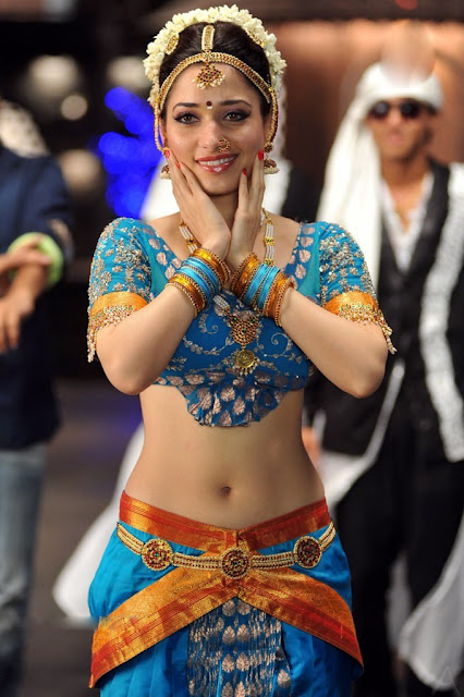 Actress Tamanna Hot Navel Show Photos