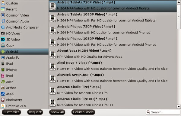 Android video format