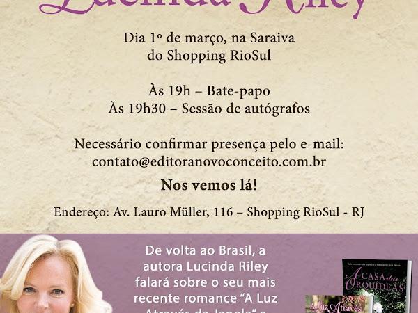 Encontro coma autora Lucinda Riley no Rio de Janeiro