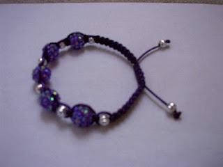 rhinestone purple shamballa bracelets