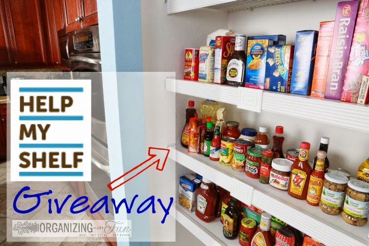 Help My Shelf Giveaway - a great and functional solution to wire shevling :: OrganizingMadeFun.com