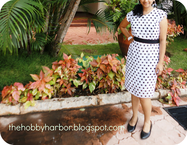 polka dot dress from burdastyle sewing handbook
