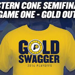 NBA 2K14 Indiana Pacers Playoffs Crowd Mod : T-Shirt