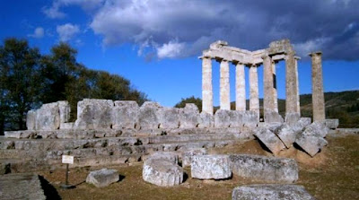 The Temple of Zeus at Nemea without scaffolding