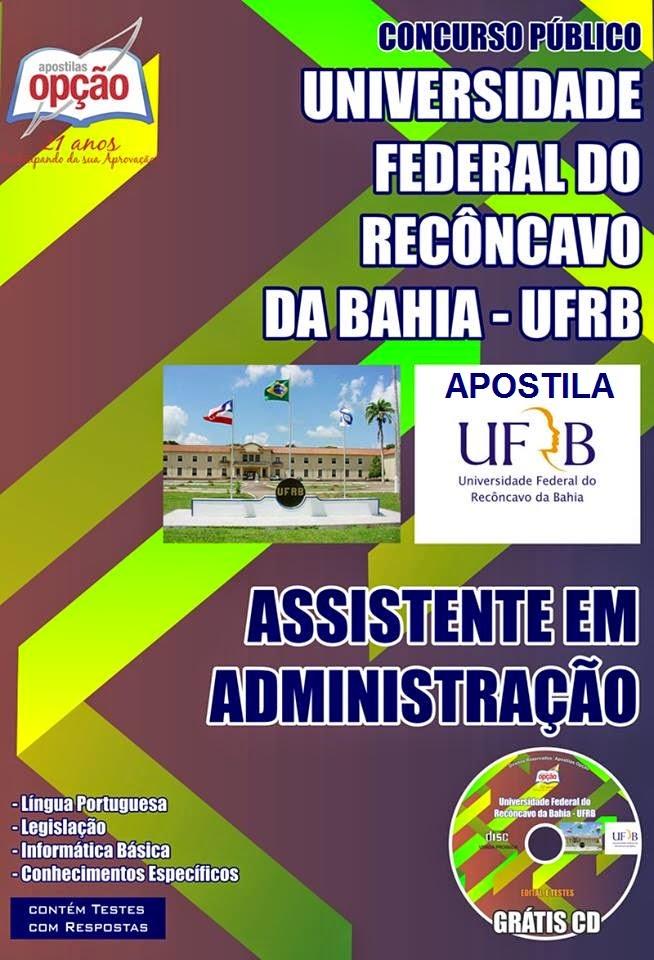 Apostila Concurso UFRB - Recôncavo da Bahia (ATE).