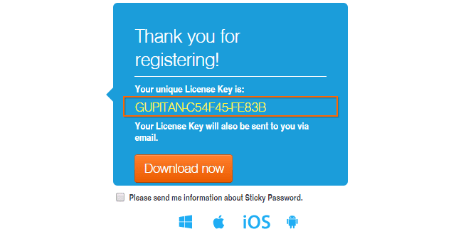 Sticky Password Premium 8 Gratis 1 Tahun Licence Key