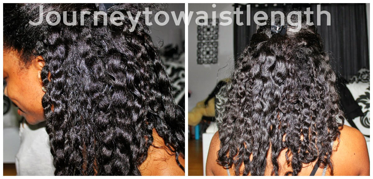 Claw Clip Natural Hair Half Back
