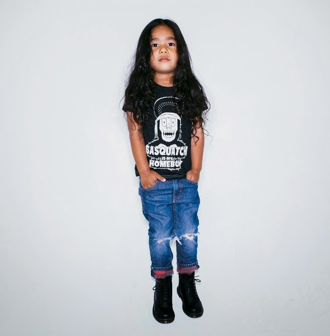 "Tiny Whales: Kids tee ""SASQUATCH IS MY HOMEBOY"""