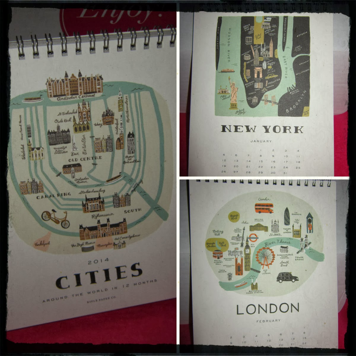 Rifle Paper Co. 2014 Flip Around the World Desk Calendar