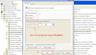 Cara menyembunyikan File dengan Hidden Drive A, B, C, D di KomputerCara menyembunyikan File dengan Hidden Drive A, B, C, D di Komputer
