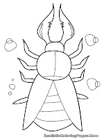 realistic insects coloring pages for kids printable