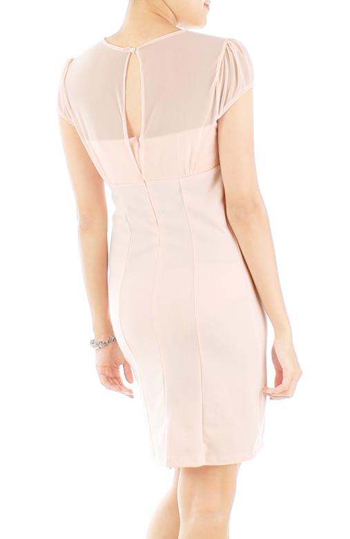 Opulent Mesh Dress – Ballet Pink