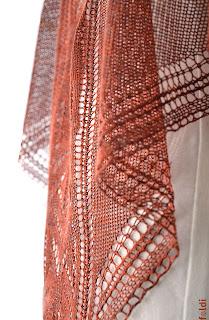 machine knitted passap triangular luxurious pure silk scarf