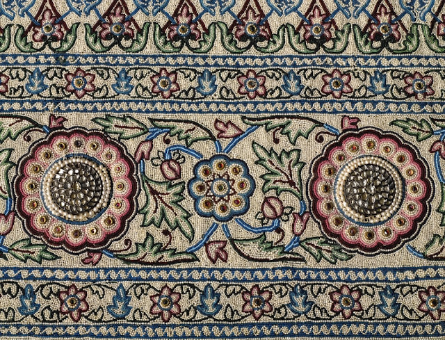 pearls and other precious stones encrusted carpet of the Maharajah of Baroda India