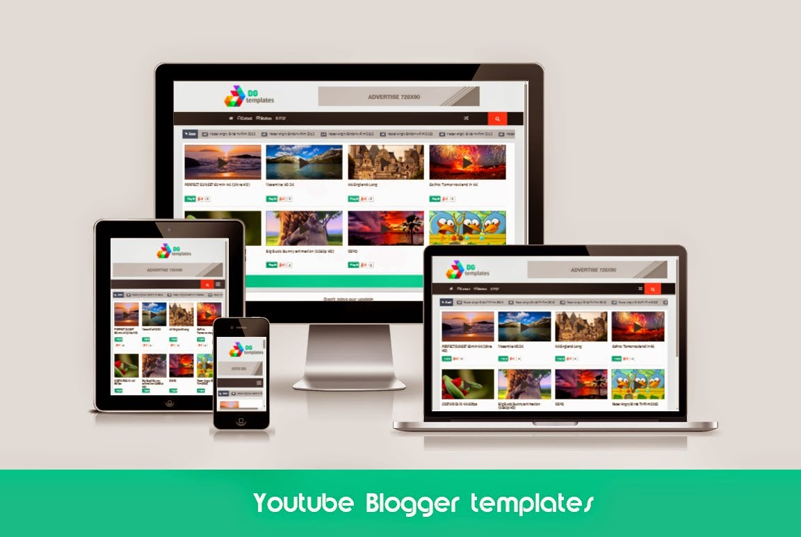 Youtube Responsive Blogger Template