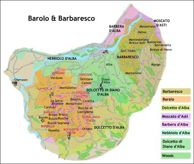 Map of Barolo Wine Region http://wine-st.blogspot.com/2012/06/barbaresco-wine.html