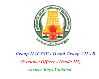 group ii exam answer keys