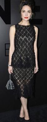 robe dentelle sur Rose Byrne