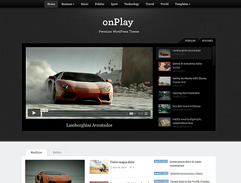 Image for onPlay – Premium Theme by WPZoom