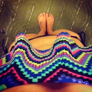 Chevron multi colored swim suit from Target