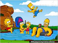 Dibujos de Los Simpson para Imprimir y Colorear