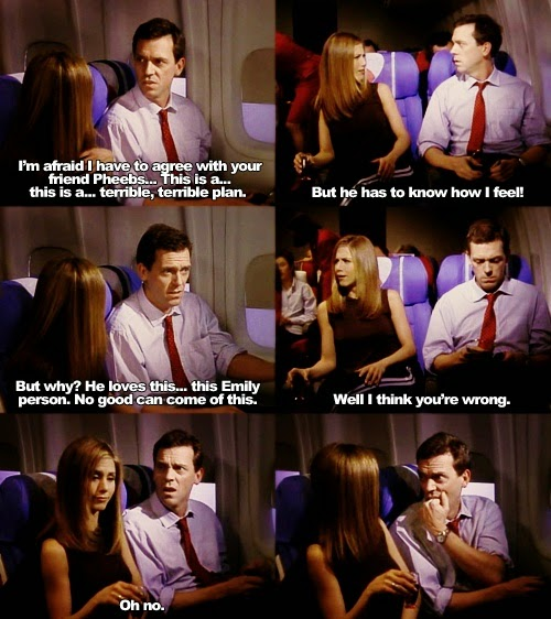 Hugh Laurie as The Gentleman On The Plane on Friends