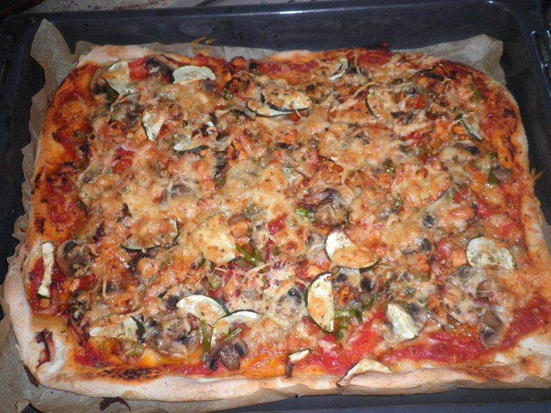 Cocina en familia pizza de verduras y pollo a la barbacoa for Cocina en familia