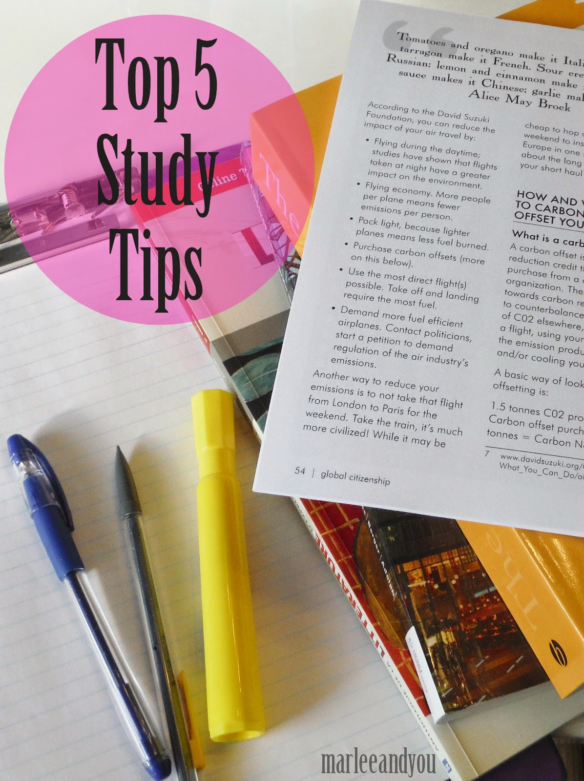 study tips | marlee and you