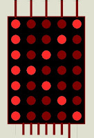 alphanumeric character in dot matrix display