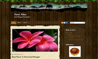 Stand Alone Blogger Templates