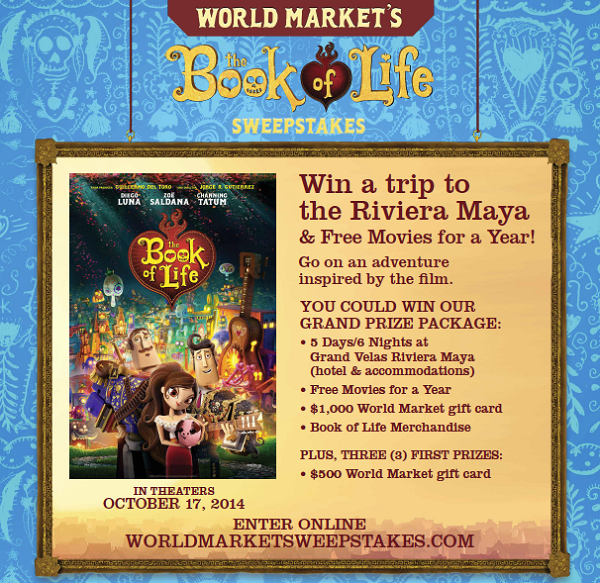 World Market Book of Life Sweepstakes