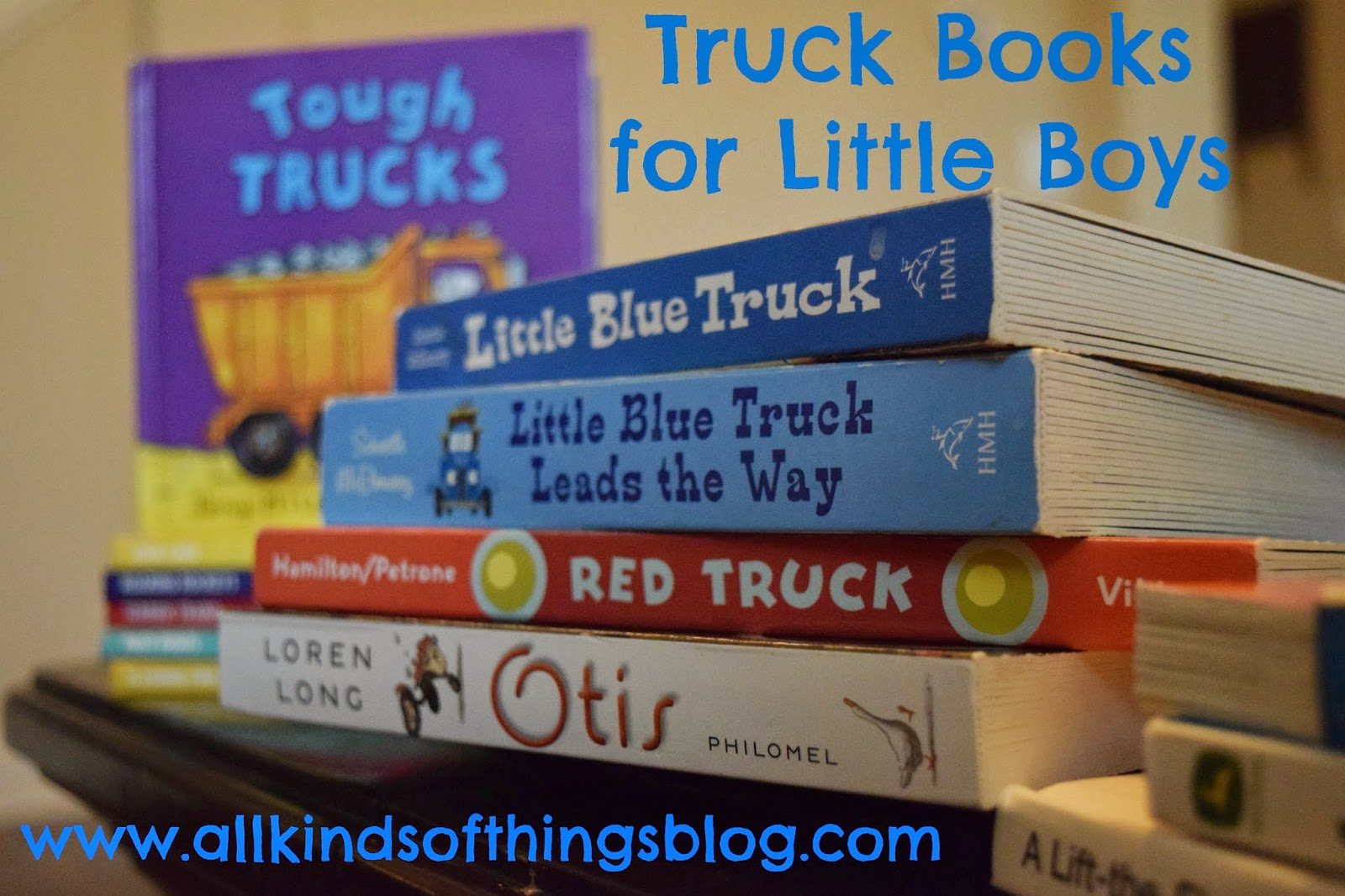 Vehicle Truck Books for Little Boys