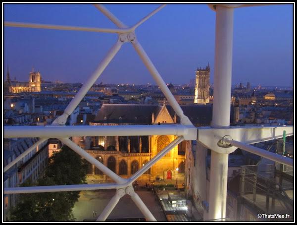 café restaurant Le George Centre George Pompidou Beaubourg vue notre dame structure metallique