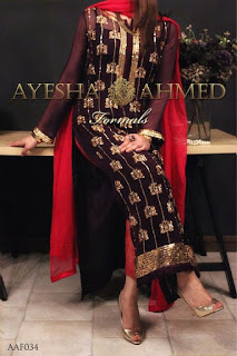 Maroon Sleeveless Bridal Gown By Ayesha Ahmed