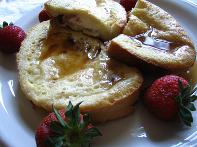 Baked Strawberry Ricotta French Toast