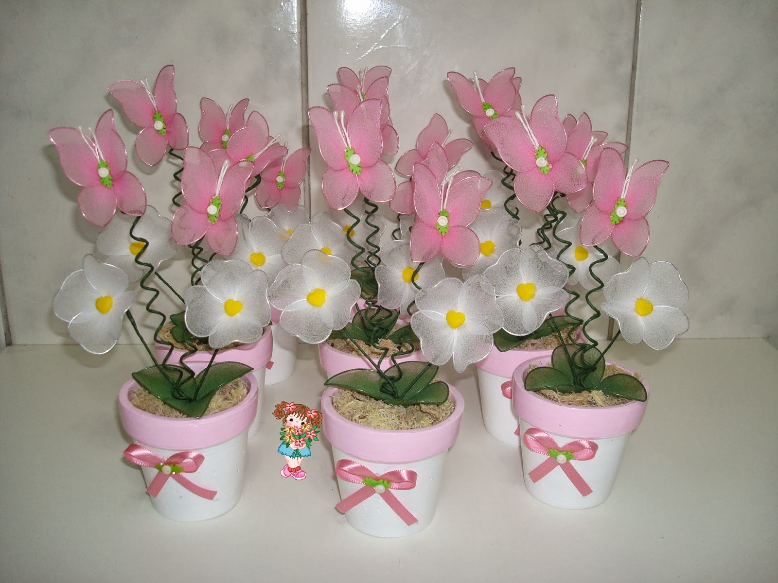 Enfeite De Jardin ~ Decoraç u00e3o de mesa de festa infantil Jardim Encantado das Borboletas
