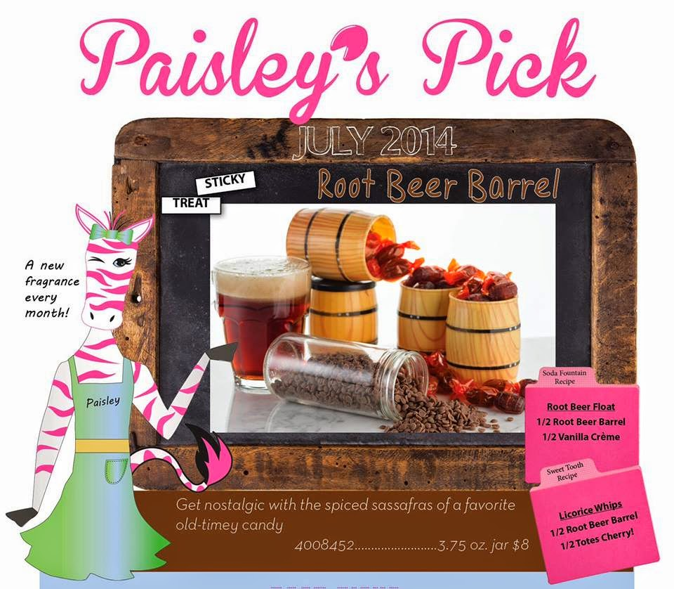 Pink Zebra July Fragrance of the  month Root Beer Barrel Image