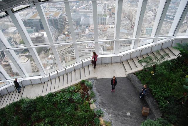 Sky garden, un jardín en un rascacielos de Londres