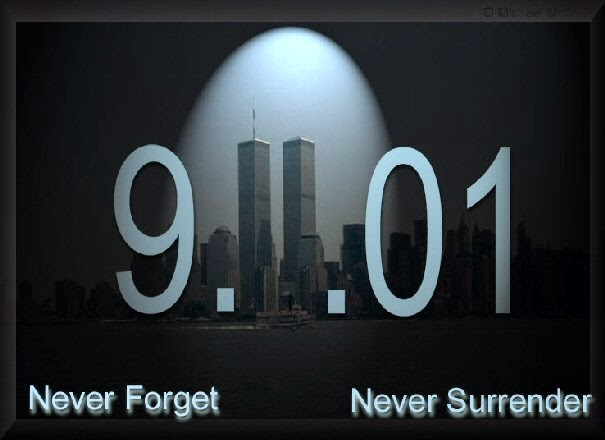 never forget 9-11 logo image twin towers