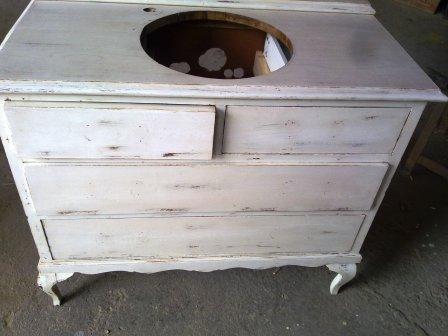 El taller de la madera de mueble de tocador a mueble de ba o for Bajo gabinete tocador bano de madera