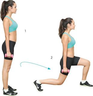 Gerakan lunges untuk memperbesar bokong