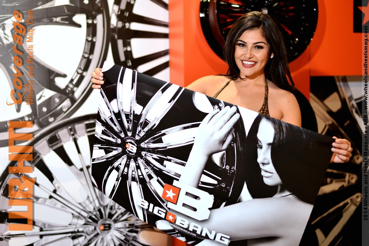 Brittany Brickner with 2Crave Poster by Wheels and Heels Magazine at 2014 SEMA
