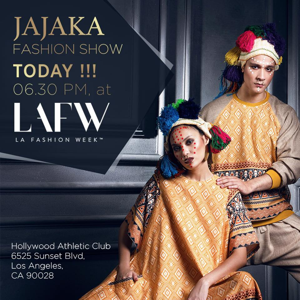 ADI SURANTHA FASHION STYLIST AT LOS ANGELES FASHION WEEK X JAJAKA
