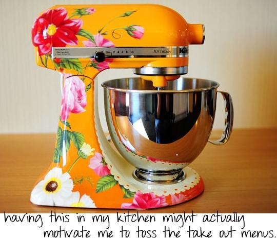 Floral Kitchenaid Mixer