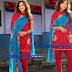 Madalasa Sharma in Designer Red Salwar Kameez