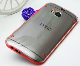 Hot Sale Soft Side and Clear PC Hard Case Cover Shell for HTC One 2 M8